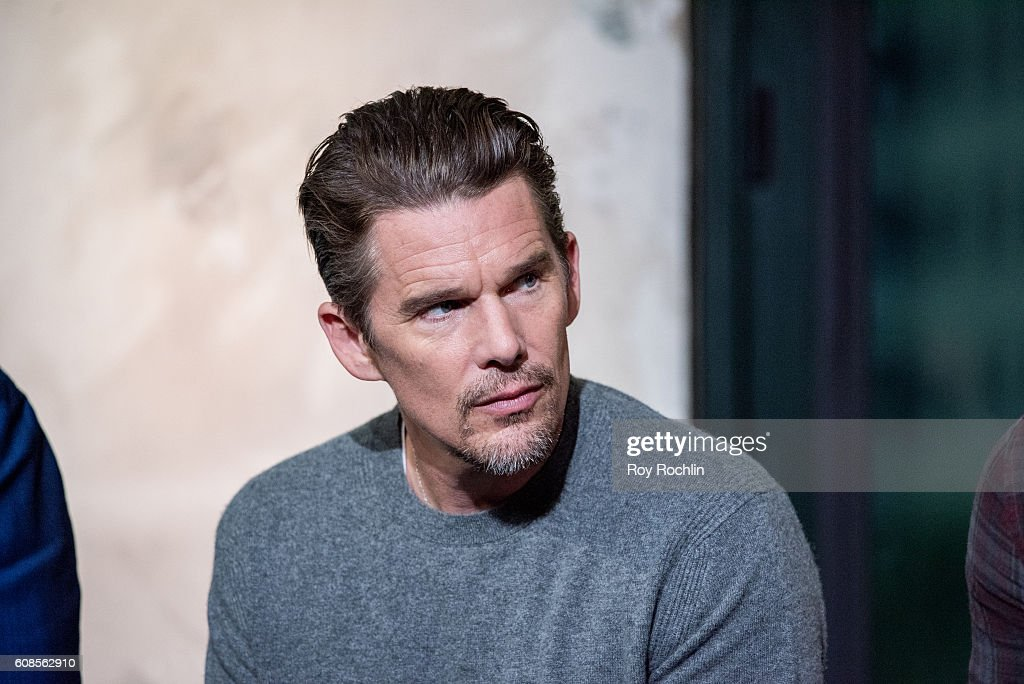 Actor Ethan Hawke discusses 'The Magnificent Seven' during AOL Build at AOL HQ on September 19, 2016 in New York City.