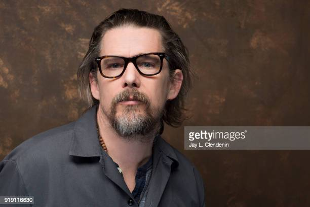 Actor Ethan Hawke from the film 'Blaze' is photographed for Los Angeles Times on January 22 2018 in the LA Times Studio at Chase Sapphire on Main...