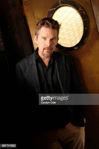Actor Ethan Hawke is photographed at Robert bar on Bond Street for Los Angeles Times on March 27 2017 in New York City PUBLISHED IMAGE CREDIT MUST...