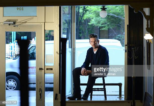 Actor Ethan Hawke is photographed for Los Angeles Times on October 10 2014 in Brooklyn New York