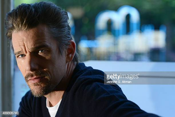 Actor Ethan Hawke is photographed for Los Angeles Times on October 10 2014 in Brooklyn New York PUBLISHED IMAGE