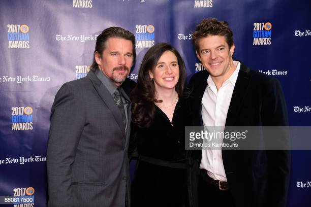 Actor Ethan Hawke Lauren Schuker and producer Jason Blum attend IFP's 27th Annual Gotham Independent Film Awards on November 27 2017 in New York City