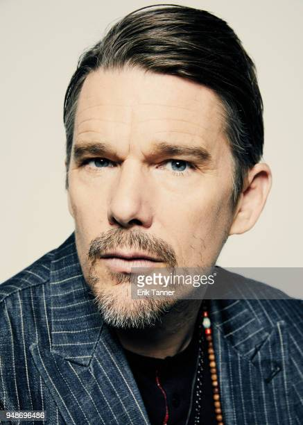Actor Ethan Hawke of the film Stockholm poses for a portrait during the 2018 Tribeca Film Festival at Spring Studio on April 19 2018 in New York City