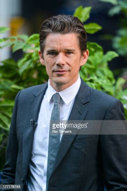 Actor Ethan Hawke tapes an interview at 'Good Morning America' at the ABC Times Square Studio on August 21 2013 in New York City