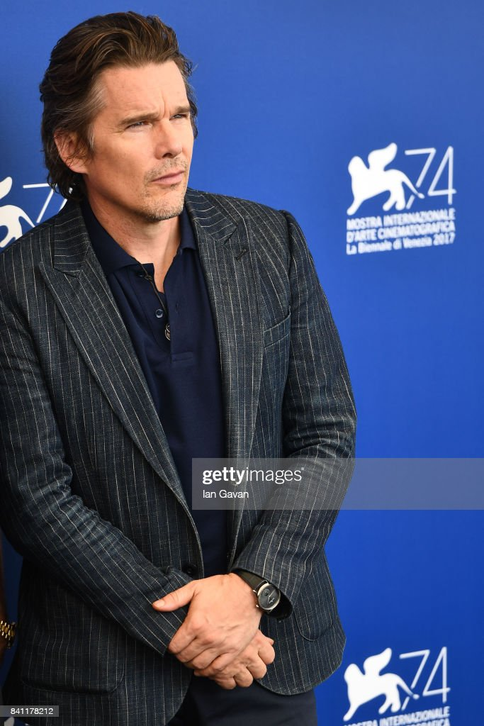Actor Ethan Hawke wearing a Jaeger-LeCoultre Master Ultra Thin Moon watch attend the 'First Reformed' photocall during the 74th Venice Film Festival at Sala Casino on August 31, 2017 in Venice, Italy.