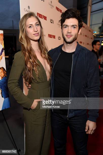 Actor Ethan Peck and Molly Swenson attend The Los Angeles Premiere Of 'Free Fire' Presented By Casa Noble Tequila on April 13 2017 in Los Angeles...