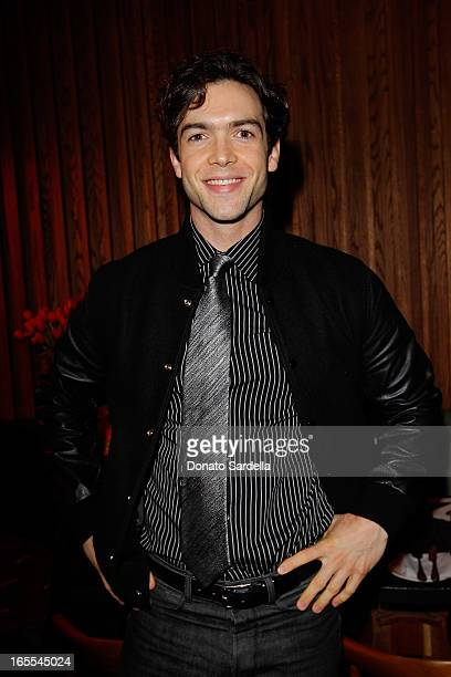 Actor Ethan Peck attends Vogue's Triple Threats dinner hosted by Sally Singer and Lisa Love at Goldie's on April 3 2013 in Los Angeles California