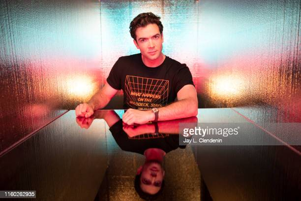 Actor Ethan Peck of 'Star Trek Short Treks' is photographed for Los Angeles Times at ComicCon International on July 20 2019 in San Diego California...