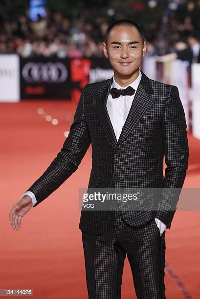 Actor Ethan Ruan arrives at the red carpet of the 48th Golden Horse Awards at Performance Hall of Cultural Affairs Bureau on November 26 2011 in...