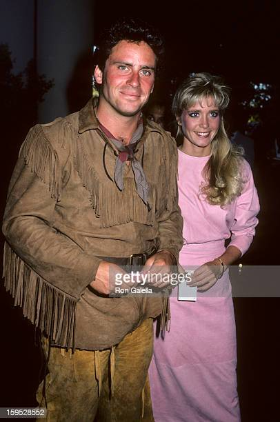 Actor Ethan Wayne and wife attend Fourth Annual Golden Boot Awards on August 15 1986 at the Westwood Marquis Hotel in Westwood California