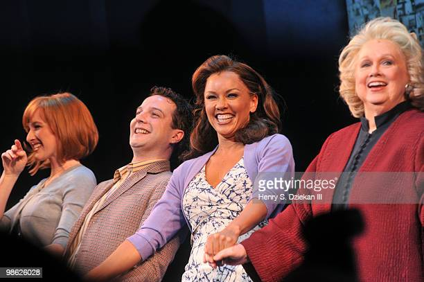 Actor Euan Morton actress Vanessa Williams and actress Barbara Cook attend the opening of Sondheim on Sondheim at the Roundabout Theatre Company on...
