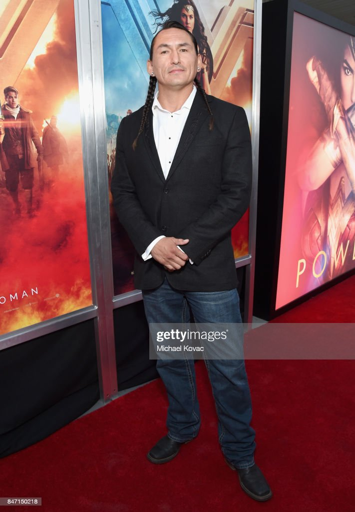 Actor Eugene Brave Rock attends the Warner Bros. Home Entertainment and Intel presentation of 'Wonder Woman in the Sky' at Dodger Stadium on September 14, 2017 in Los Angeles, California.