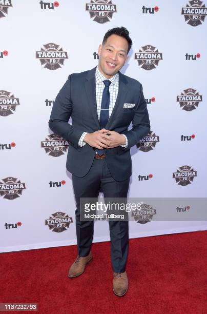Actor Eugene Cordero attends the premiere of truTV's 'Tacoma FD' at Seventh/Place on March 20 2019 in Los Angeles California