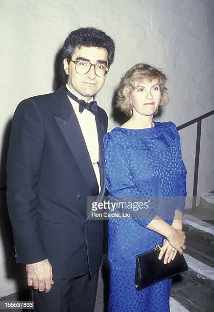 Actor Eugene Levy and wife Deborah Divine attend the premiere of A Fine Mess on April 19 1986 at the Comedy Store in Hollywood California