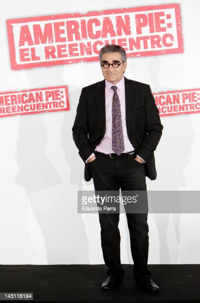 Actor Eugene Levy attend 'American Pie: Reunion' photocall at Villamagna Hotel on April 19, 2012 in Madrid, Spain.