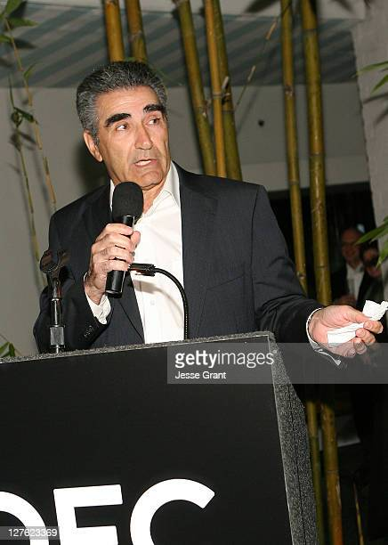 Actor Eugene Levy attends The Canadian Film Centre cocktail reception celebrating the Telefilm Canada Features Comedy Lab held at Avalon Hotel on...