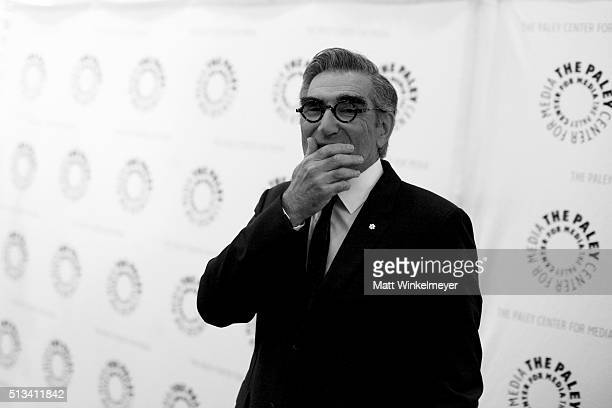 Actor Eugene Levy attends the Paley Center for Media presents An Evening with 'Schitt's Creek' at The Paley Center for Media on March 2 2016 in...