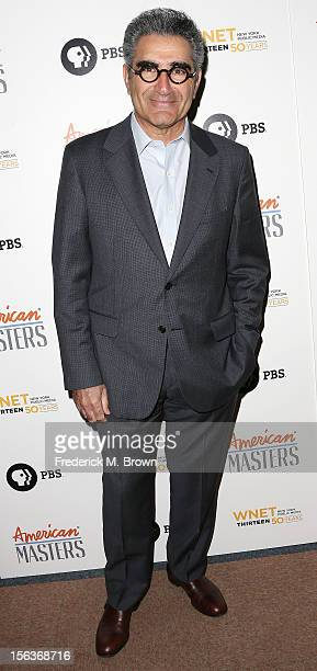 Actor Eugene Levy attends the Premiere Of 'American Masters Inventing David Geffen' at The Writers Guild of America on November 13 2012 in Beverly...