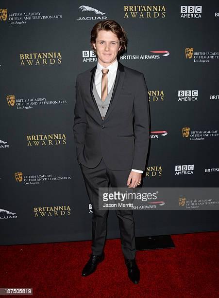 Actor Eugene Simon attends the 2013 BAFTA LA Jaguar Britannia Awards presented by BBC America at The Beverly Hilton Hotel on November 9, 2013 in...