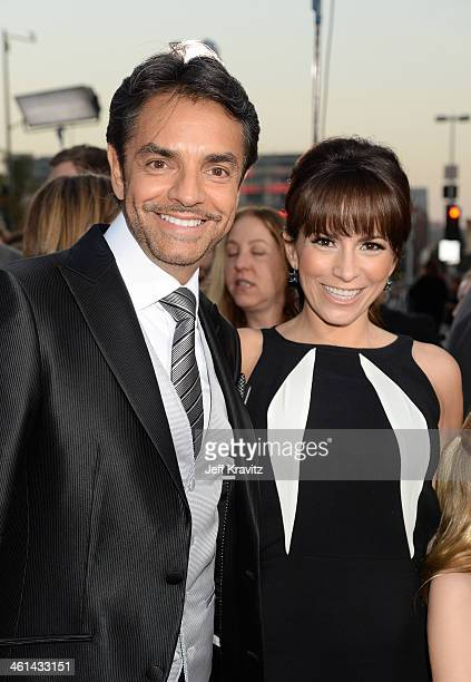 Actor Eugenio Derbez and his wife actress/singer Alessandra Rosaldo attend The 40th Annual People's Choice Awards at Nokia Theatre LA Live on January...