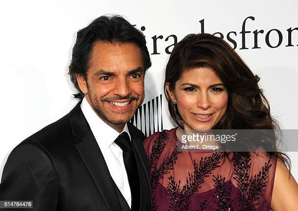 Actor Eugenio Derbez and wife Alessandra Rosaldo arrive for the Premiere Of Columbia Pictures' 'Miracles From Heaven' held at ArcLight Hollywood on...