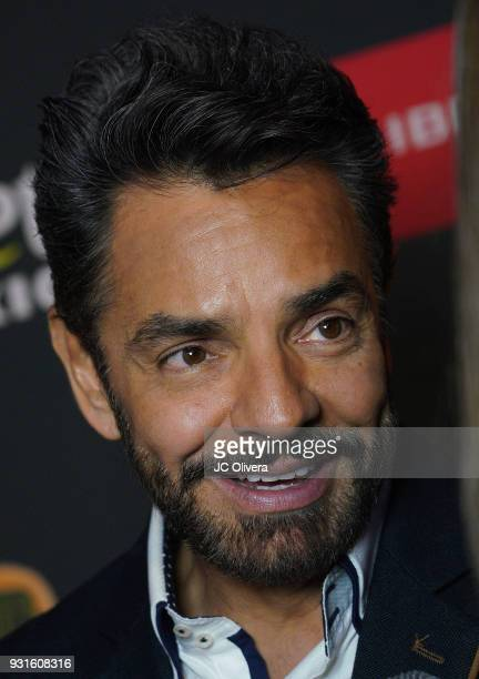 actor Eugenio Derbez attends the 5th Annual Premios PLATINO Of Iberoamerican Cinema Nominations Announcement at Hollywood Roosevelt Hotel on March 13...