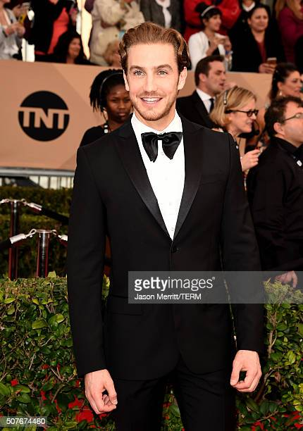 Actor Eugenio Siller attends The 22nd Annual Screen Actors Guild Awards at The Shrine Auditorium on January 30 2016 in Los Angeles California...