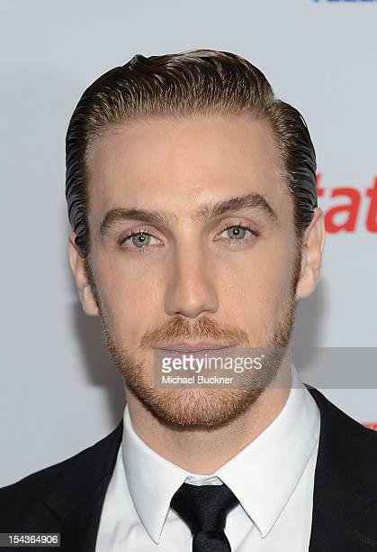 Actor Eugenio Siller poses for photographers in the press room of the 2012 Billboard Mexican Music Awards Presented by State Farm at The Shrine...