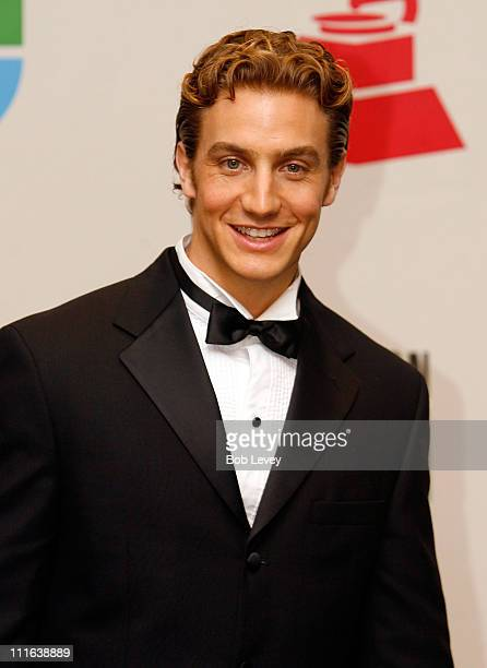 Actor Eugenio Siller poses in the press room at the 9th Annual Latin GRAMMY Awards held at the Toyota Center on November 13 2008 in Houston Texas