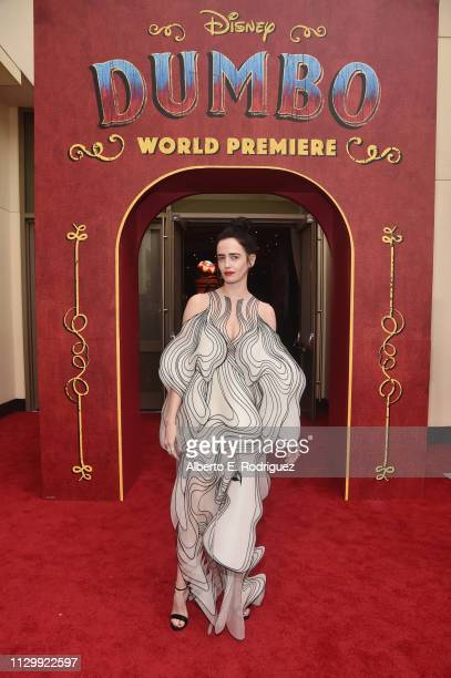 """Actor Eva Green attends the World Premiere of Disney's """"Dumbo"""" at the El Capitan Theatre on March 11, 2019 in Los Angeles, California."""