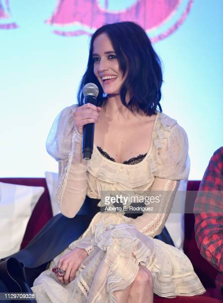 Actor Eva Green speaks onstage during the Dumbo Global Press Conference at The Beverly Hilton Hotel on March 10 2019 in Los Angeles California