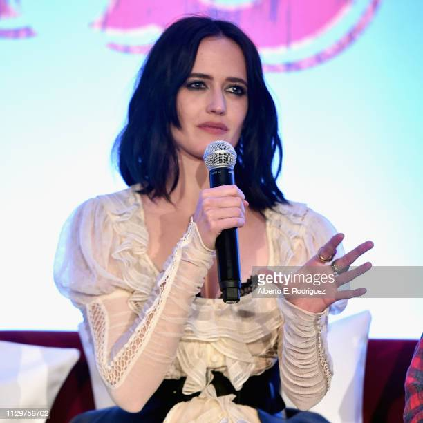 Actor Eva Green speaks onstage during the 'Dumbo' Global Press Conference at The Beverly Hilton Hotel on March 10 2019 in Los Angeles California