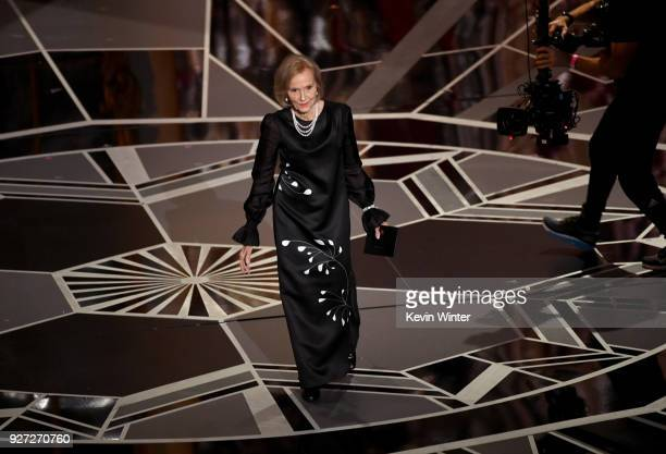 Actor Eva Marie Saint walks onstage during the 90th Annual Academy Awards at the Dolby Theatre at Hollywood Highland Center on March 4 2018 in...