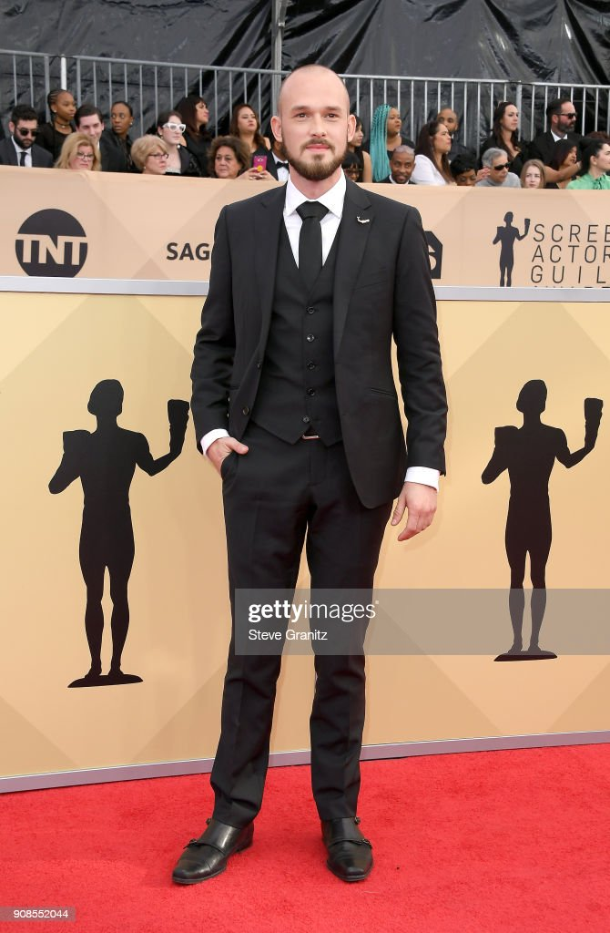 Actor Evan Hall attends the 24th Annual Screen Actors Guild Awards at The Shrine Auditorium on January 21, 2018 in Los Angeles, California.