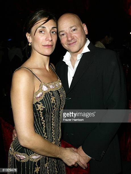 Actor Evan Handler poses with his wife Elisa Appi at HBO's post Emmy party following the 56th annual Primetime Emmy Awards held at the Pacific Design...