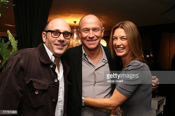 Actor Evan Handler with actor Corbin Bernsen and his wife actress Amanda Pays at Holllywood Life's celebration for David Duchovny's very good year at...