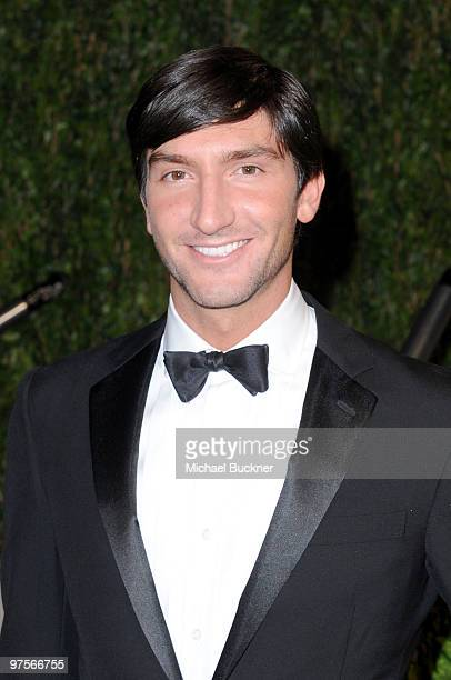 Actor Evan Lysacek arrives at the 2010 Vanity Fair Oscar Party hosted by Graydon Carter held at Sunset Tower on March 7, 2010 in West Hollywood,...