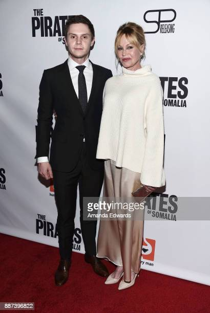 Actor Evan Peters and actress Melanie Griffith arrive at the premiere of Front Row Filmed Entertainment's 'The Pirates Of Somalia' at the TCL Chinese...