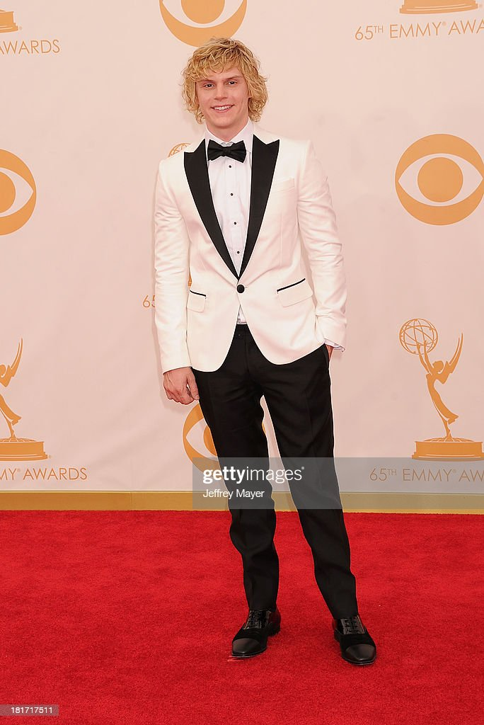 Actor Evan Peters arrives at the 65th Annual Primetime Emmy Awards at Nokia Theatre L.A. Live on September 22, 2013 in Los Angeles, California.