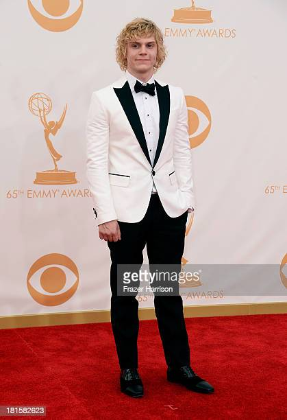 Actor Evan Peters arrives at the 65th Annual Primetime Emmy Awards held at Nokia Theatre LA Live on September 22 2013 in Los Angeles California