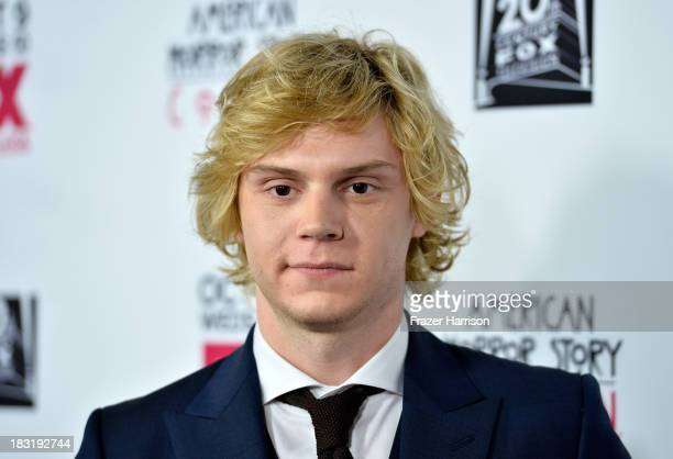 Actor Evan Peters arrives at the premiere of FX's 'American Horror Story Coven' at Pacific Design Center on October 5 2013 in West Hollywood...