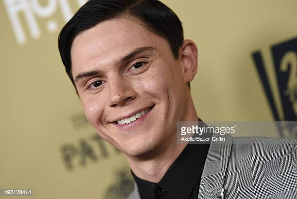 Actor Evan Peters arrives at the premiere screening of FX's 'American Horror Story Hotel' at Regal Cinemas LA Live on October 3 2015 in Los Angeles...