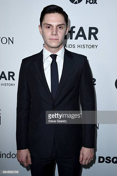 Actor Evan Peters attends amfAR's Inspiration Gala Los Angeles at Milk Studios on October 29 2015 in Hollywood California
