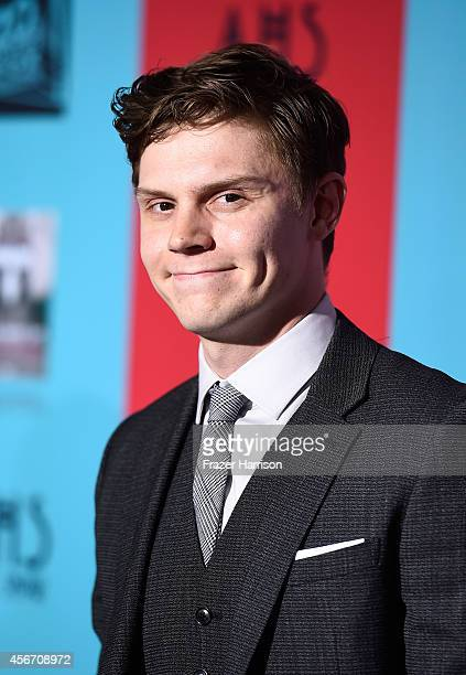 Actor Evan Peters attends FX's 'American Horror Story Freak Show' premiere screening at TCL Chinese Theatre on October 5 2014 in Hollywood California
