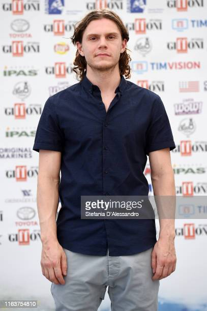 Actor Evan Peters attends Giffoni Film Festival 2019 on July 23, 2019 in Giffoni Valle Piana, Italy.