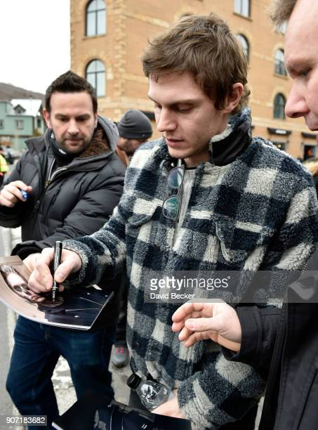 Actor Evan Peters attends the 2018 Sundance Film Festival on January 19 2018 in Park City Utah