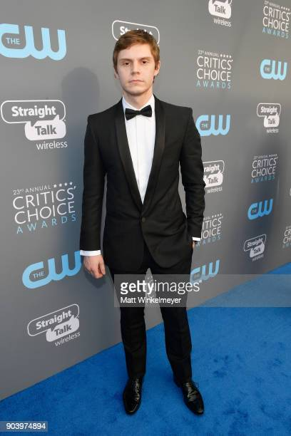 Actor Evan Peters attends The 23rd Annual Critics' Choice Awards at Barker Hangar on January 11 2018 in Santa Monica California