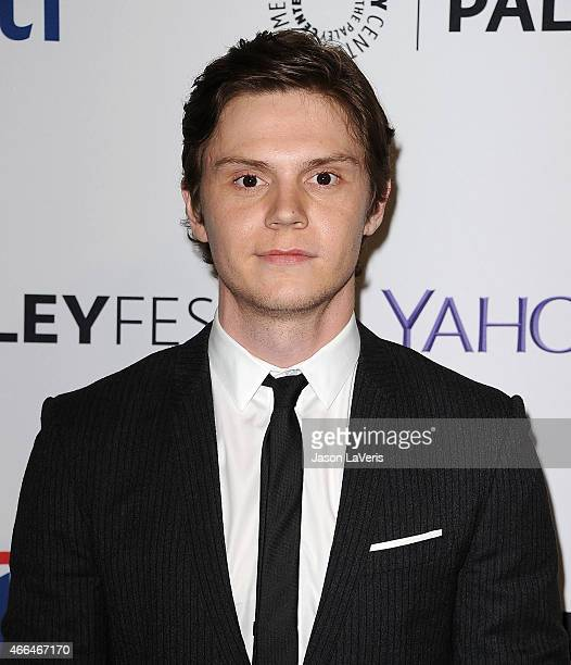 Actor Evan Peters attends the 'American Horror Story Freak Show' event at the 32nd annual PaleyFest at Dolby Theatre on March 15 2015 in Hollywood...