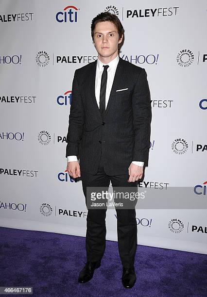 Actor Evan Peters attends the American Horror Story Freak Show event at the 32nd annual PaleyFest at Dolby Theatre on March 15 2015 in Hollywood...