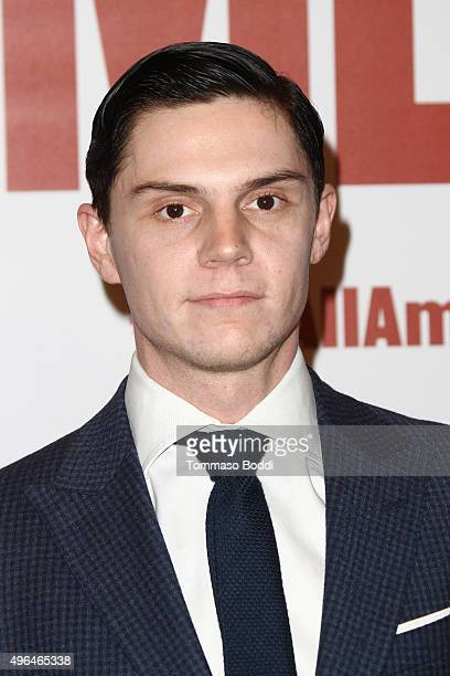 Actor Evan Peters attends the premiere of Clarius Entertainment's 'My All American' held at The Grove on November 9 2015 in Los Angeles California